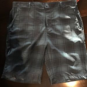 Blue and navy plaid Ron Jon walk and boardshort